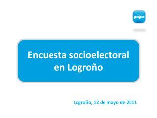 Encuesta socioelectoral  en Logroño
