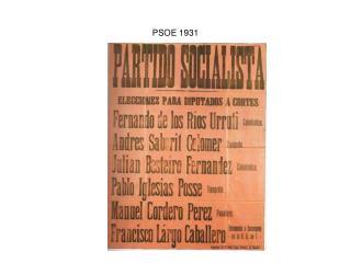 PSOE 1931