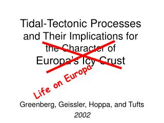 Tidal-Tectonic Processes and Their Implications for  the Character of Europa's Icy Crust