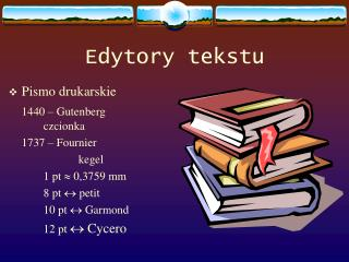 Edytory tekstu
