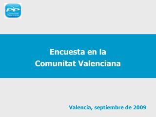 Encuesta en la  Comunitat Valenciana