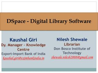 DSpace - Digital Library Software