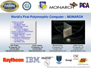 World's First Polymorphic Computer – MONARCH