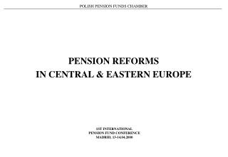 POLISH PENSION FUNDS CHAMBER