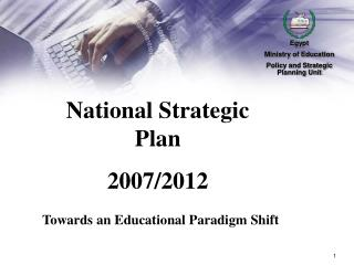 National Strategic Plan  2007/2012