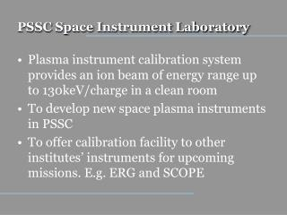 PSSC Space Instrument Laboratory