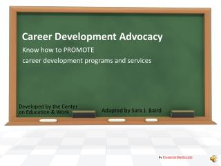 Career Development Advocacy