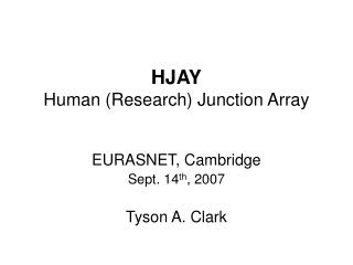 HJAY Human (Research) Junction Array