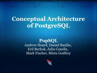 Conceptual Architecture of PostgreSQL