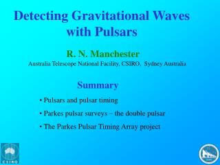 Detecting Gravitational Waves with Pulsars