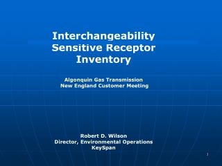 Interchangeability  Sensitive Receptor Inventory Algonquin Gas Transmission