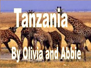 Tanzania        By Olivia and Abbie