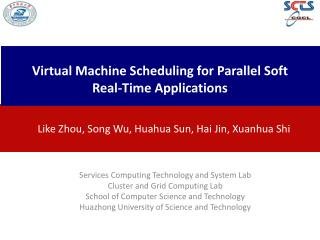 Virtual Machine Scheduling for Parallel Soft Real-Time Applications
