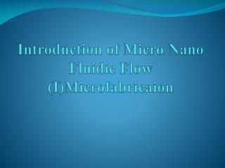 Introduction of Micro