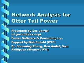 Network Analysis for Otter Tail Power