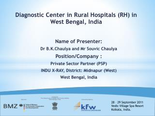 Name of Presenter: Dr B.K.Chaulya and Mr Souvic Chaulya Position/Company :