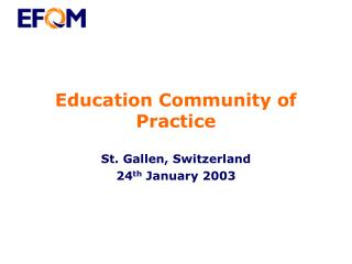 Education Community of Practice
