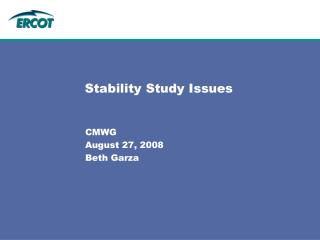 Stability Study Issues