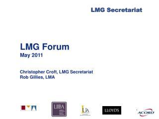 LMG Forum May 2011