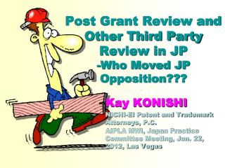 Post Grant Review and Other Third Party Review in JP -Who Moved JP Opposition???