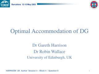 Optimal Accommodation of DG