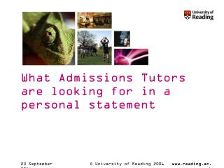What Admissions Tutors are looking for in a personal statement