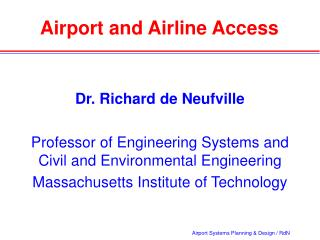 Airport and Airline Access