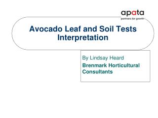 Avocado Leaf and Soil Tests    Interpretation