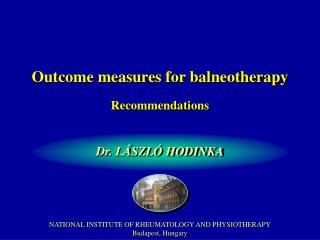 Outcome measures for balneotherapy