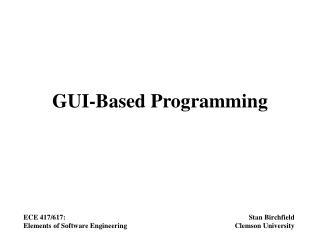 GUI-Based Programming