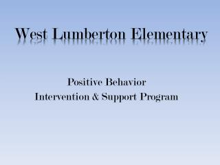 Positive Behavior  Intervention & Support Program