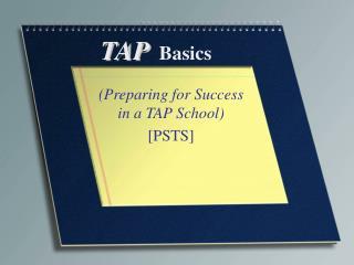 TAP Basics