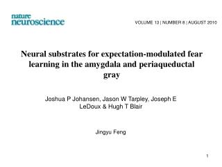 Neural substrates for expectation-modulated fear learning in the amygdala and periaqueductal gray
