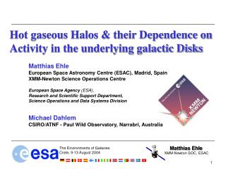 Hot gaseous Halos & their Dependence on Activity in the underlying galactic Disks