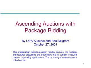 Ascending Auctions with Package Bidding