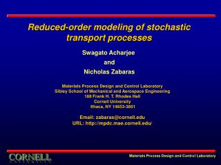 Reduced-order modeling of stochastic transport processes