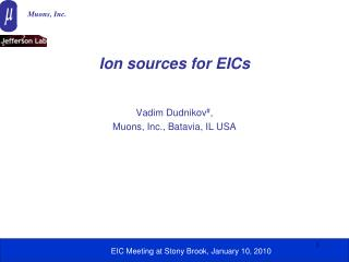 Ion sources for EICs