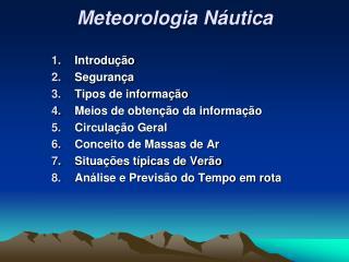 Meteorologia Náutica