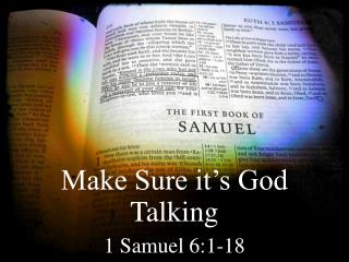 Make Sure it's God Talking