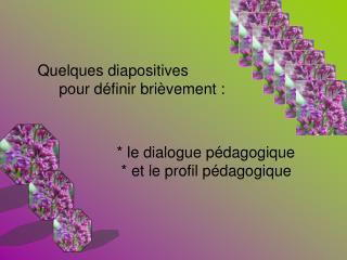 le dialogue p dagogique     et le profil p dagogique