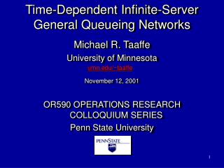 Time-Dependent Infinite-Server General Queueing Networks