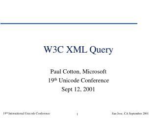 W3C XML Query