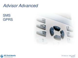 Advisor Advanced  SMS GPRS