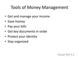Tools of Money Management