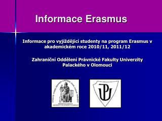 Informace Erasmus