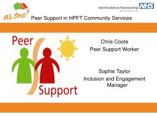 Peer Support in HPFT Community Services