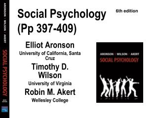 Social Psychology (Pp 397-409)
