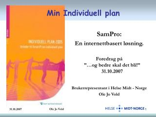 Min Individuell plan