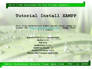 Tutorial Install XAMPP