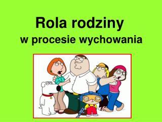 Rola rodziny w procesie wychowania